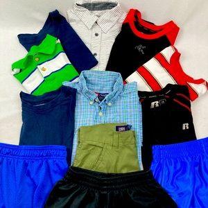 Lot boys shorts/shirts large sz 10-12 (12 ct)